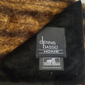 Dennis Basso Home 56X67 inch faux fur throw